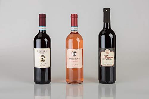 Trittico di 3 bottiglie cantina San Zeno | Bardolino Chiaretto, Freudo Rosso, Bardolino classico | Veneto