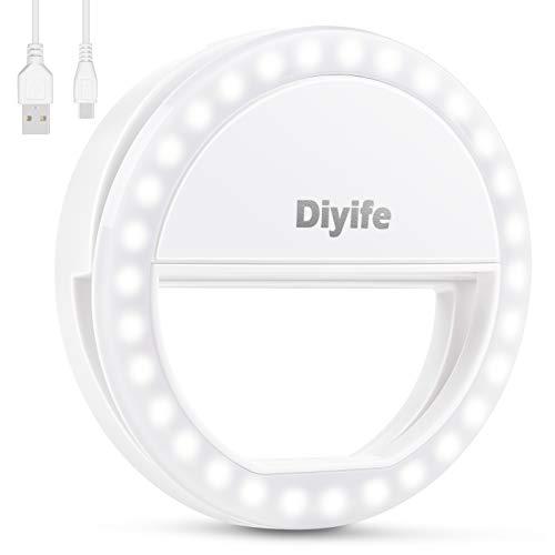 Anillo de luz Selfie, [Nueva Versión] Diyife Selfie Luz Anillo...