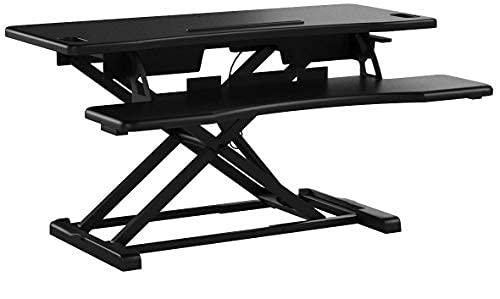 TechOrbits Standing Desk Converter - 37-inch Height Adjustable, MDF...