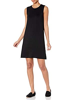 Made in Vietnam This versatile swing dress features muscle sleeves and a feminine drape for easy, everyday styling Luxe Jersey - Perfectly rich, smooth fabric that beautifully drapes Start every outfit with Daily Ritual's range of elevated basics Mod...