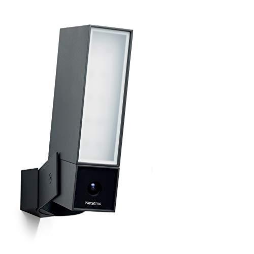 Netatmo Caméra de Surveillance Wi-FI extérieure Intelligente avec sirène 105 DB, Spot intégré, détection de mouvements, Vision Nocturne, sans coût additionnel, NOC-S-EC