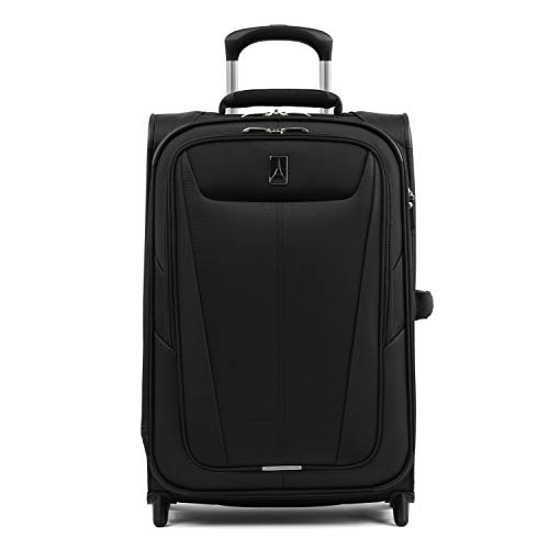 Travelpro Maxlite 5-Softside Lightweight Expandable Upright Luggage, Black, Carry-On 22-Inch
