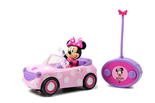 Disney Junior Minnie Mouse Roadster RC Car with Polka Dots, 27 MHz, Pink with White Polka Dots, Standard (97161)