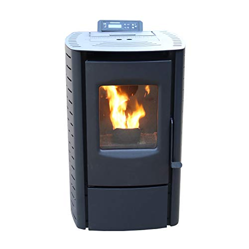 Cleveland Iron Works PS20W-CIW Pellet Stove, Black