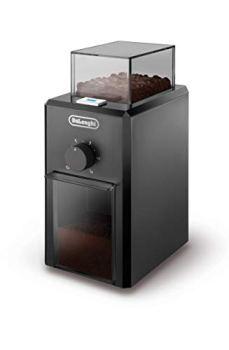 De'Longhi KG79 Moulin à Café Electrique, Broyeur pour Grains de Café avec Réservoir d'une Capacité de 120 g, 110 W, Noir