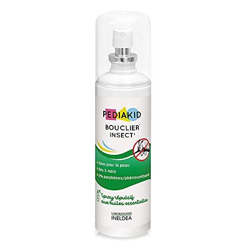 PEDIAKID - Bouclier Insect'- Spray Répulsif Anti-Moustique - Aux Huiles...