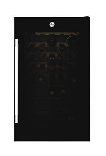 Hoover HWC 154 DELW Cantinetta Vino Doppia Temperatura, 36 bottiglie, Connettivit Wi-Fi, Luci a LED e Trattamento anti UV, Ripiani in Legno, 39 dBa, Libera Installazione, 49x54.5x84.5 cm, Nero