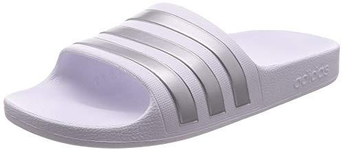 Adidas Adilette Aqua K - Zapatos de Playa y Piscina, Unisex Niños, Blanco, 38 EU
