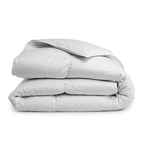Brooklinen Down Alternative Comforter – 100 Percent Hypoallergenic – 400 Thread Count Cotton Sateen Shell with Baffle Box Construction – Vegan & Allergy Friendly – Lightweight Warmth – King/Cali King