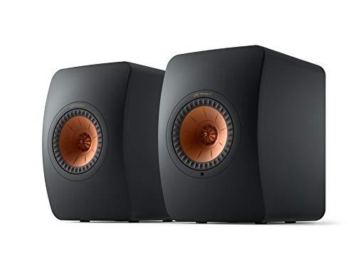 KEF LS50 Wireless II WLAN HiFi Lautsprecher System, Schwarz, Aktivlautsprecher | HDMI | Airplay 2 | Bluetooth | Spotify | Tidal