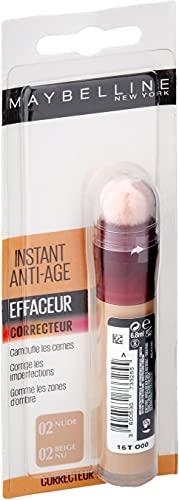 Maybelline New York - Anti-cernes/Correcteur Fluide - Instant Anti-Age L'Effaceur - 02 Beige Nu - 6,8 ml