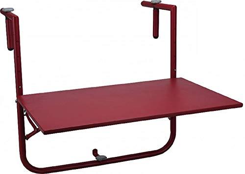 Fair-Shopping Balkontisch Hängetisch Klapp-Tisch zum Einhängen Terrassen-Tisch Anthrazit Rot 40x60cm D430