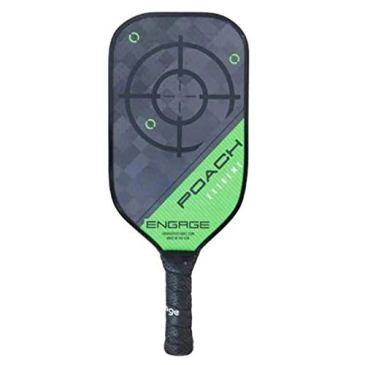 """ENGAGEPICKLEBALL Poach Extreme 17"""" x 7"""" Paddle - Green - LITE (EXT105)"""