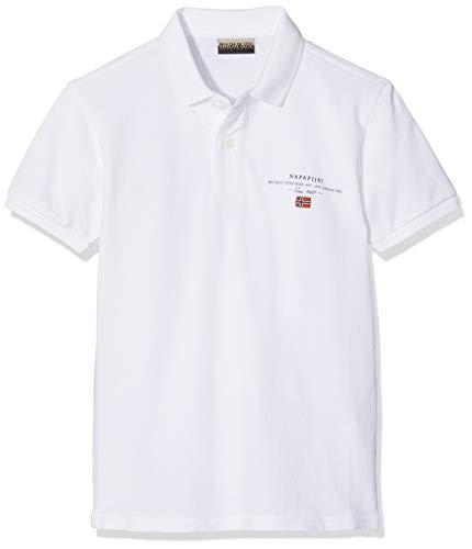 NAPAPIJRI K Elbas 2 Polo, Bianco (Bright White 002), 140 (Taglia Produttore: 10) Bambino