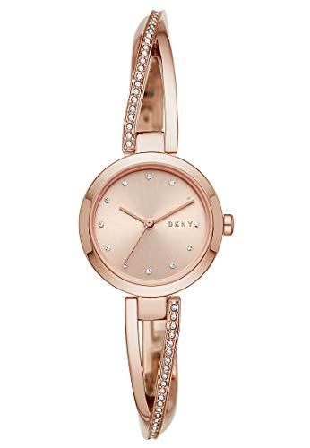 DKNY Damen-Uhren Analog Quarz One Size Roségold Edelstahl 32010656