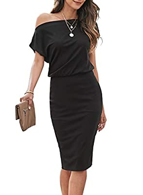 One shoulder dress is unique and stylish, which can show your good fashion taste. Ribbed dress made of premium quality fabric is comfortable and airy to wear all day. You can wear the slim fit dress with short sleeve to get a sexy and charming style....