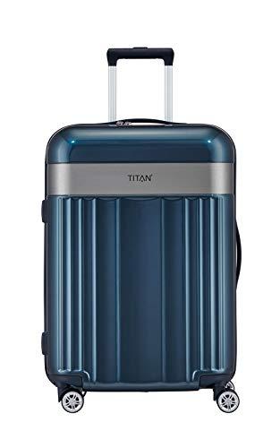 TITAN 4-Rad Koffer Größe M mit TSA Schloss, Gepäck Serie SPOTLIGHT: Edler Trolley in trendigen Farben, 831405-22, 67 cm, 69 Liter, north sea (blau)