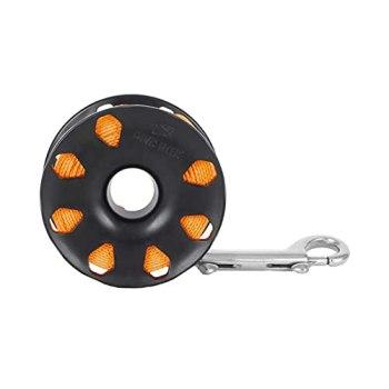 Dive Rite Finger Reel with Brass Clip Wreck Scuba Diving Tech Spool 120' - Orange (RE4)