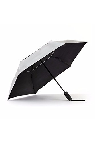 UV Travel Sun Umbrella Lightweight UPF 50 Auto Open Close Compact Silver Vent Wind Resistant Travel Friendly
