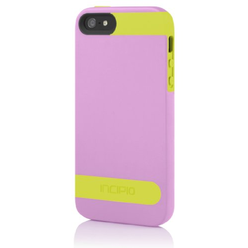 Incipio OVRMLD Case for iPhone 5S - Retail Packaging - Pink/Yellow