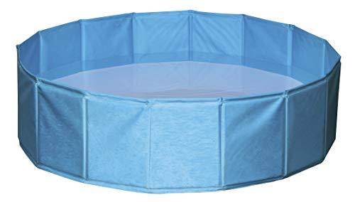 Kerbl Hundepool, Kunststoff Hunde Pool, Wasserablassventil, 80-160cm x 20-30cm