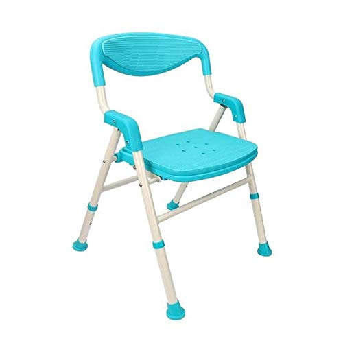Safety shower chair Foldable Bath Stool With Backrest With Armrests Anti-skid Shower Chair Adult Pregnant Women Disabled Children Thickening Bath Chair Home Changing Shoe Chair Bearing 100KG Energy le