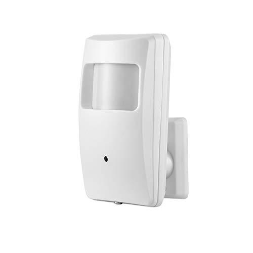 Revotech PIR Mini Poe IP Telecamera Security, H.265 HD 3MP 1080P da 940nm Invisible Night Vision IR Spy Cam Pinhole Videocamera di sorveglianza Motion Detection ONVIF P2P CCTV Cam (IPIR-M-P Bianco)
