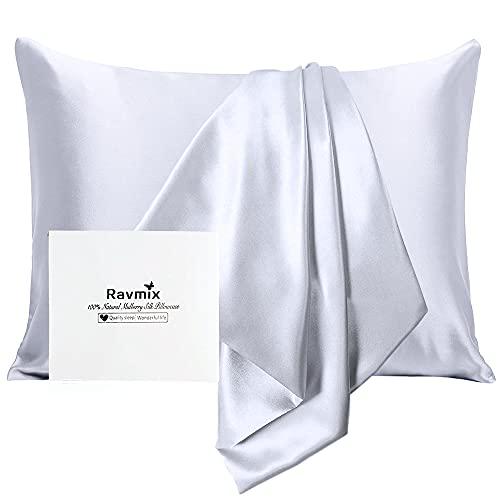 Ravmix Silk Pillowcase for Hair and Skin with Hidden Zipper,...