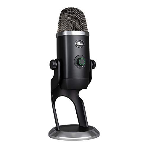 Blue Yeti X - Micrófono condensador USB profesional con indicadores de alta resolución (iluminación LED y efectos Blue VOICE para gaming, streaming y podcasting en PC/Mac), Negro