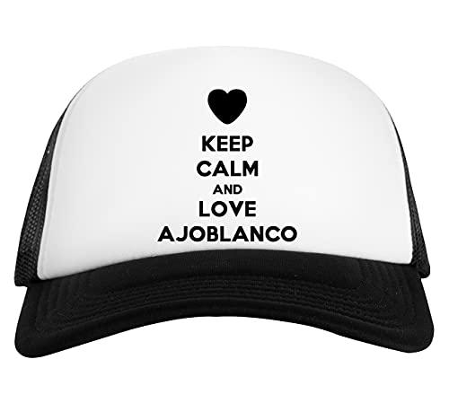 Keep Calm and Love Ajoblanco Gorra De Béisbol Unisex Blanca