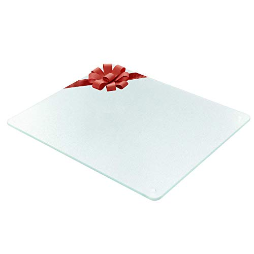 Surface Saver Vance 20 X 16 inch Clear Tempered Glass Cutting Board, , 20 X 16-Inch
