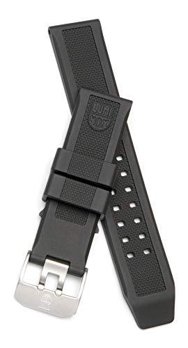 Luminox 3050, 3080, 3150 Uhrenarmband Ersatzband Uhrenarmband schwarz Silikon 23mm
