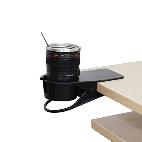 F-KING 飲料 カップ ホルダー クリップ、デスク カップ ホルダー、テーブル エッジ クランプ カップ ホルダ...