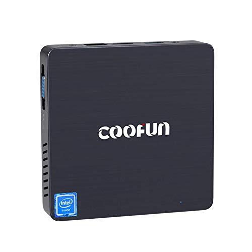 Fanless Mini PC 4GB LPDDR4 / 64GB eMMC Windows 10 Quad Core Processore Intel Celeron N3450 Computer desktop Supporto porta HDMI/VGA 2242 SSD, BT 4.2,3X USB 3.0, Auto Power On, Linux