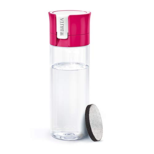 BRITA Fill and Go Vital Water Filter Bottle, Pink, Pack of 1