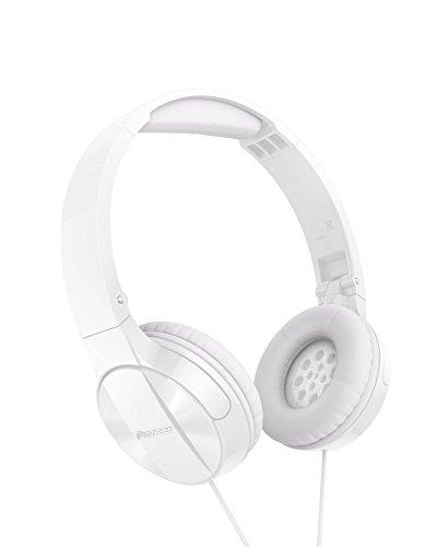 Pioneer MJ503 Cuffie On-Ear con cavo (qualit audio elevata e bilanciata, archetto imbottito, pieghevole e facile da trasportare, certificato per iPod, iPhone e iPad), bianco