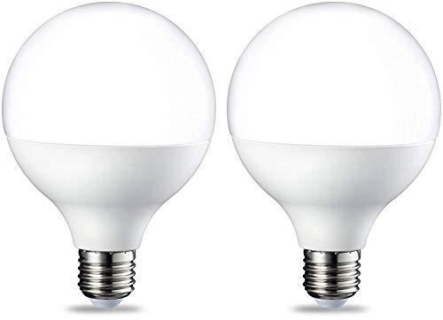 Amazon Basics - Lampadine a LED, attacco Edison E27, a forma di globo, G93, 14,5 W (equivalenti a 100 W), luce calda intensa,confezione da 2