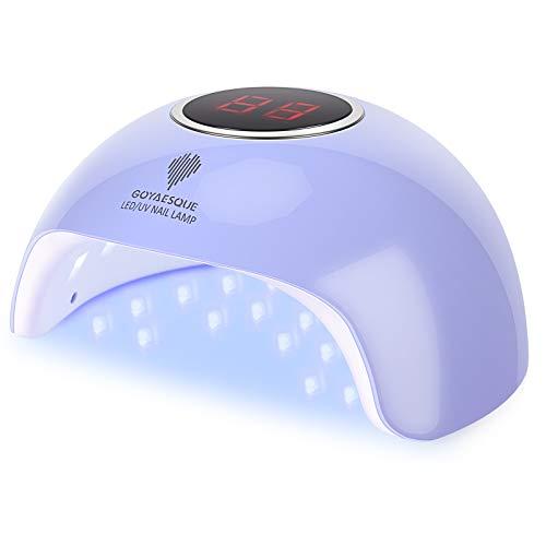 UV LED Nail Lamp Professional UV Gel Nail Lamp kit 36w 18LED UV Gel Polish Light Goyaesque UV Lamp Gel Nail Dryer for Salon Beginner DIY at Home(36W, Blue)