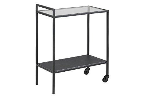 AC Design Furniture Servierwagen Jörn, B: 60 x T:30 x H: 75 cm, Glas, Schwarz