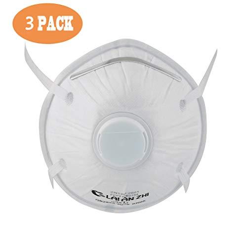 FFP2-Emily:(3pcs) mascherine ffp2 con valvola respiratoria,Maschera antipolvere Maschera,antipolvere equitazione Maschera