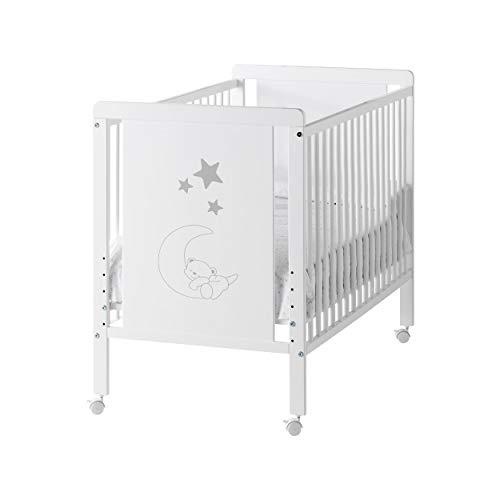 Cuna colecho de bebé Indi (5 posiciones de somier) + kit colecho + 4 ruedas + REGALO Cool-Dreams