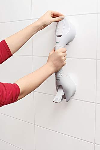 TronicXL Vakuum Stange 40cm Badewannen Dusche WC Griff Aufstehhilfe Badewannengriff Haltestange OHNE BOHREN & Schrauben