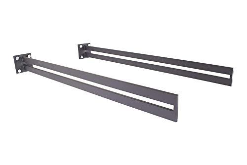 Soporte para toldo antracita VL-850 (1 par), sistema de marquesina, portaverías, de acero, de cristal, para puerta de casa