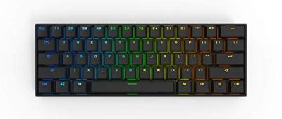 Obinslab Anne 2 Pro Mechanical Gaming Keyboard 60% True RGB Backlit - Wired/Wireless Bluetooth 4.0 PBT Type-c Full Keys Programmable (Cherry Mx Red, Black)