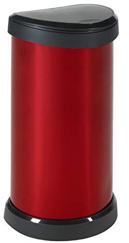 CURVER Deco Bin Metallic\'s Push, 40L, metallic rot