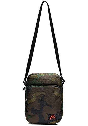 Nike Uni Umhängetasche Heritage, oliv braun schwarz, One size, TAW811000