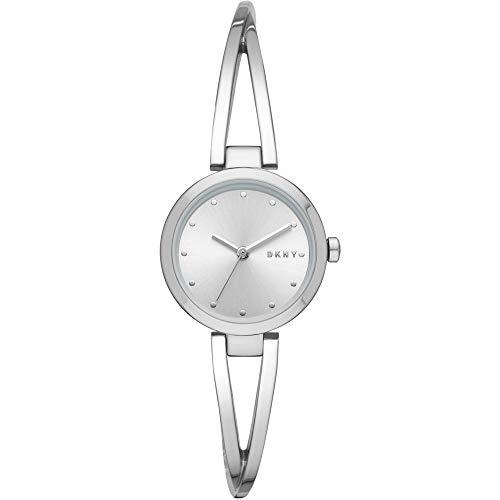 DKNY Damen-Uhren Analog Quarz One Size Silber Edelstahl 32002251
