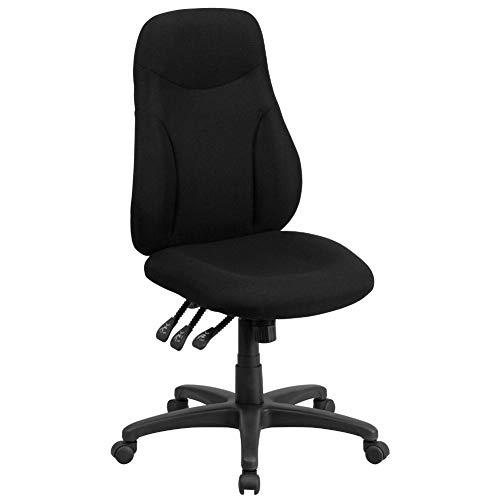Flash Furniture High Back Black Fabric Multifunction Swivel...