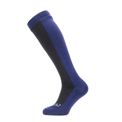 Sealskinz - Calzino impermeabile al ginocchio, lunghezza al ginocchio, Unisex - Adulto, Calze ginocchio da escursionismo, 11100065004130, nero/blu navy., L