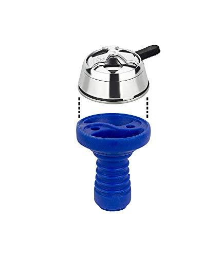 C-03 PAIDE Set regulador de carbón + Cazoleta de Silicona - Cachimba Bowl Pot para Narguile Shisha Hookah (Azul)